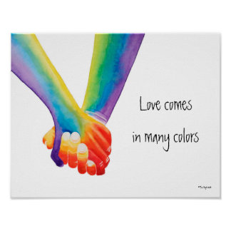 Love Comes in Many Colors Poster
