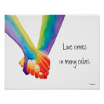 Love Comes in Many Colours Poster