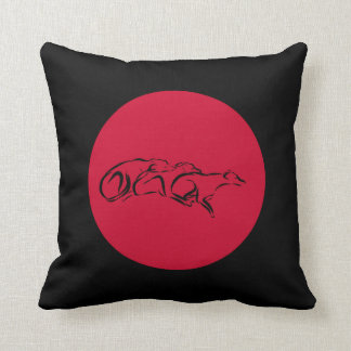 Love comes in three sighthounds throw pillow