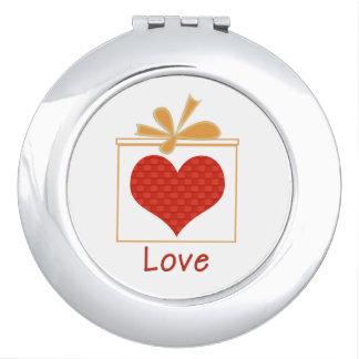 """LOVE"" Compact Mirror"