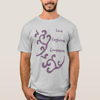 Love-Compassion-Forgiveness Shirt, Organic Pattern T-Shirt