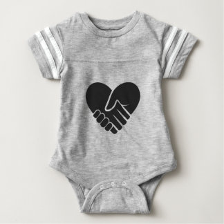 Love Connected black Baby Bodysuit