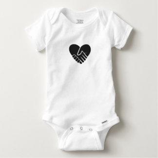 Love Connected black Baby Onesie