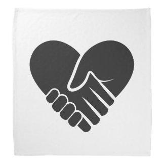 Love Connected black Bandana