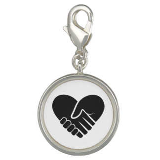 Love Connected black Charms