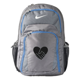 Love Connected black heart Backpack