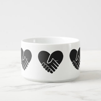 Love Connected black heart Bowl