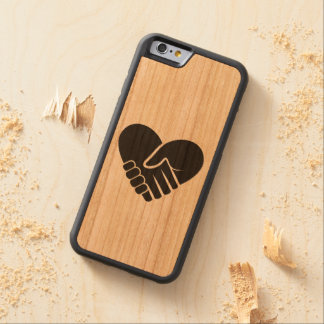 Love Connected black heart Carved Cherry iPhone 6 Bumper Case