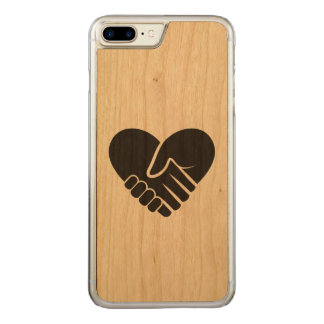Love Connected black heart Carved iPhone 8 Plus/7 Plus Case