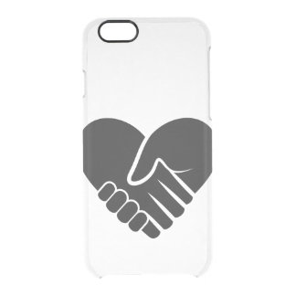 Love Connected black heart Clear iPhone 6/6S Case