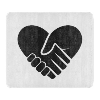 Love Connected black heart Cutting Board