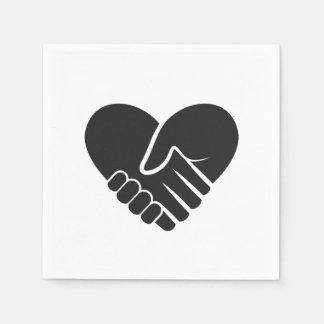 Love Connected black heart Disposable Napkin