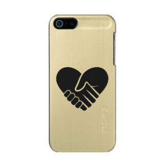 Love Connected black heart Incipio Feather® Shine iPhone 5 Case