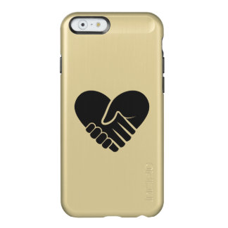 Love Connected black heart Incipio Feather® Shine iPhone 6 Case
