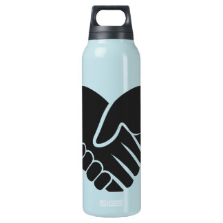 Love Connected black heart Insulated Water Bottle