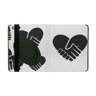 Love Connected black heart iPad Folio Case