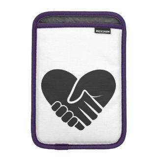Love Connected black heart iPad Mini Sleeves