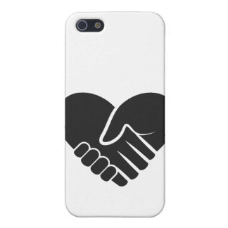 Love Connected black heart iPhone 5/5S Covers