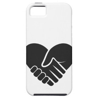 Love Connected black heart iPhone 5 Case