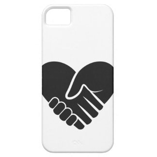 Love Connected black heart iPhone 5 Cover