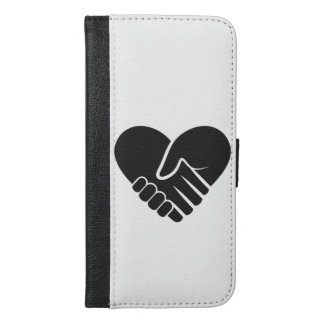 Love Connected black heart iPhone 6/6s Plus Wallet Case