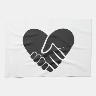 Love Connected black heart Kitchen Towel