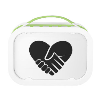 Love Connected black heart Lunch Box
