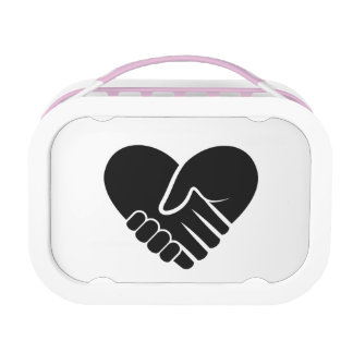 Love Connected black heart Lunch Boxes