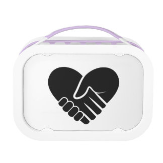 Love Connected black heart Lunchbox