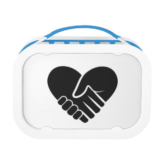 Love Connected black heart Lunchboxes