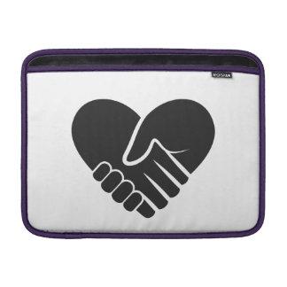 Love Connected black heart MacBook Sleeves