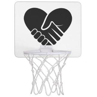 Love Connected black heart Mini Basketball Hoop