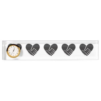 Love Connected black heart Name Plate