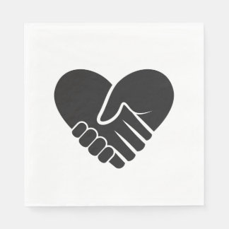 Love Connected black heart Napkin