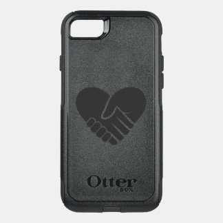 Love Connected black heart OtterBox Commuter iPhone 8/7 Case