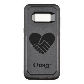 Love Connected black heart OtterBox Commuter Samsung Galaxy S8 Case