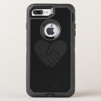 Love Connected black heart OtterBox Defender iPhone 8 Plus/7 Plus Case