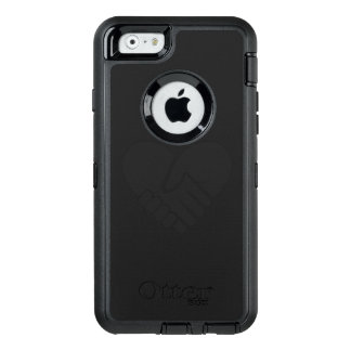 Love Connected black heart OtterBox Defender iPhone Case