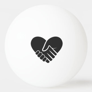 Love Connected black heart Ping Pong Ball