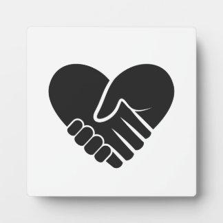 Love Connected black heart Plaque