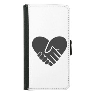 Love Connected black heart Samsung Galaxy S5 Wallet Case