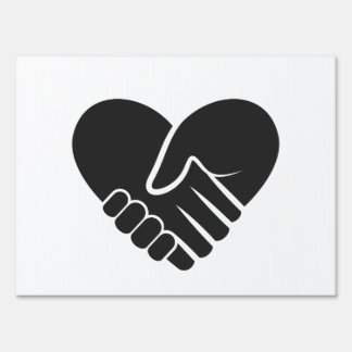 Love Connected black heart Sign