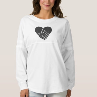 Love Connected black heart Spirit Jersey