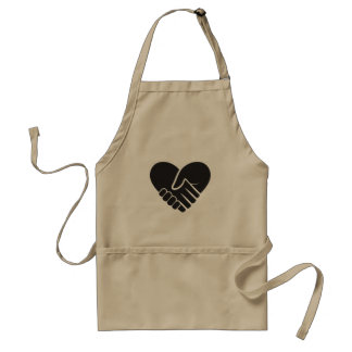 Love Connected black heart Standard Apron