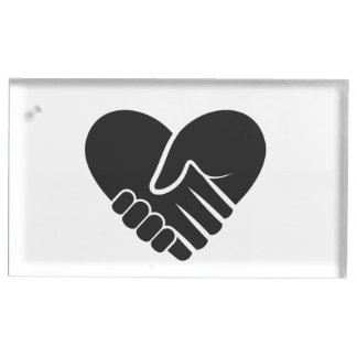 Love Connected black heart Table Card Holders