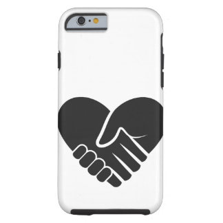 Love Connected black heart Tough iPhone 6 Case