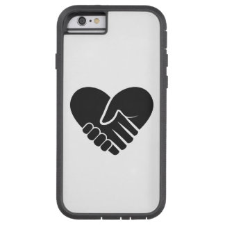 Love Connected black heart Tough Xtreme iPhone 6 Case