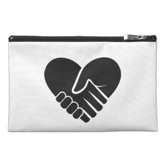 Love Connected black heart Travel Accessory Bag