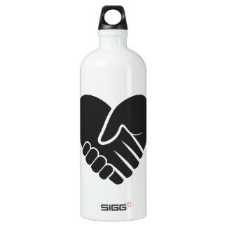 Love Connected black heart Water Bottle