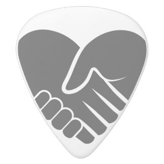 Love Connected black heart White Delrin Guitar Pick